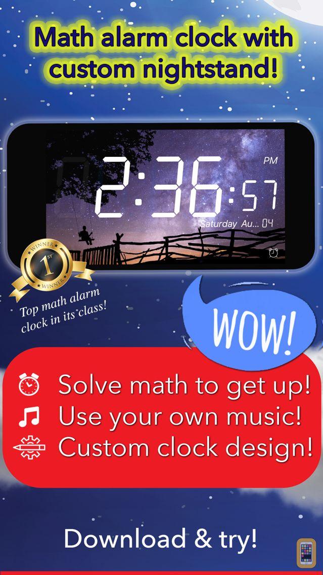 Screenshot - Math Alarm Clock by Mathy