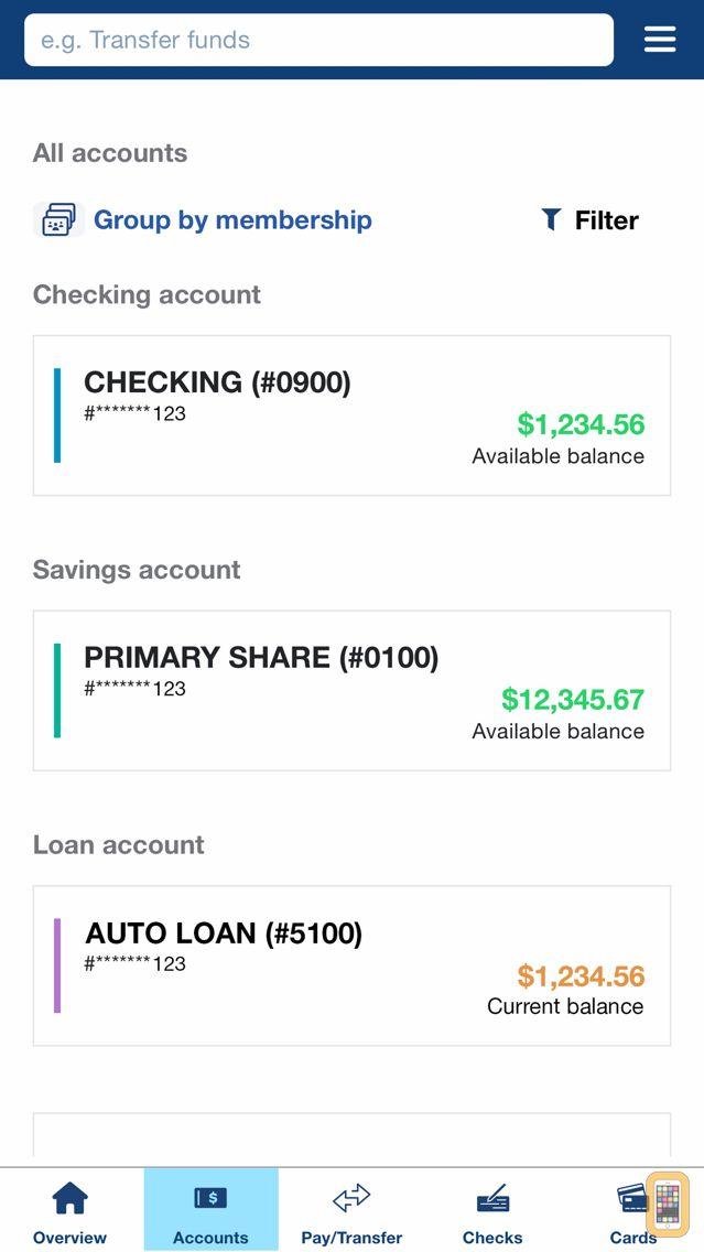 Screenshot - Chevron FCU Mobile