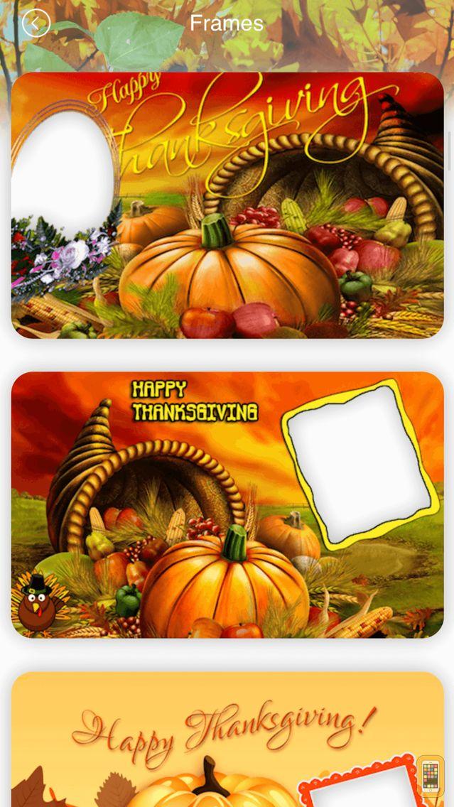 Screenshot - Thanksgiving Photo Frames