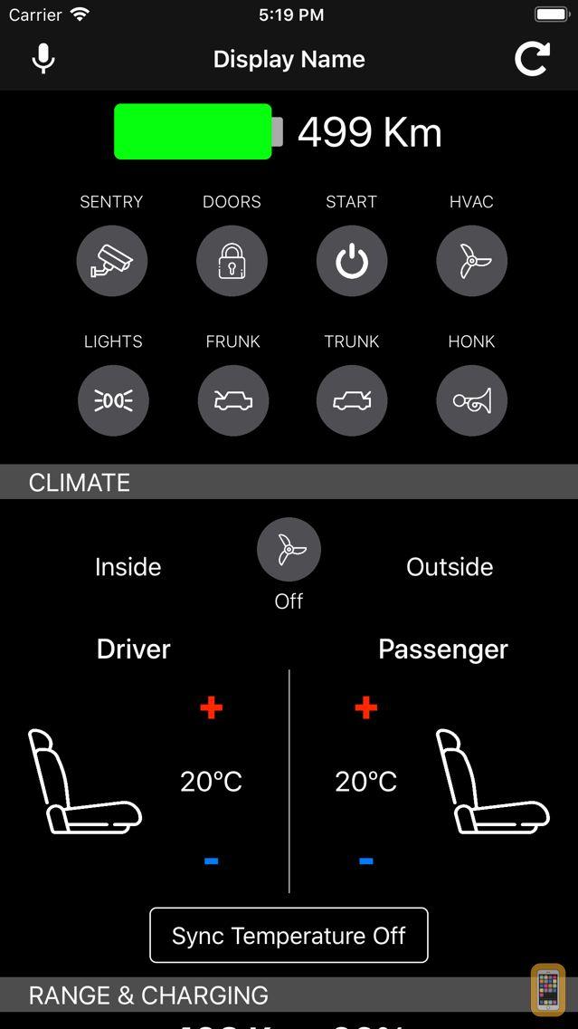 Screenshot - Commands for Tesla