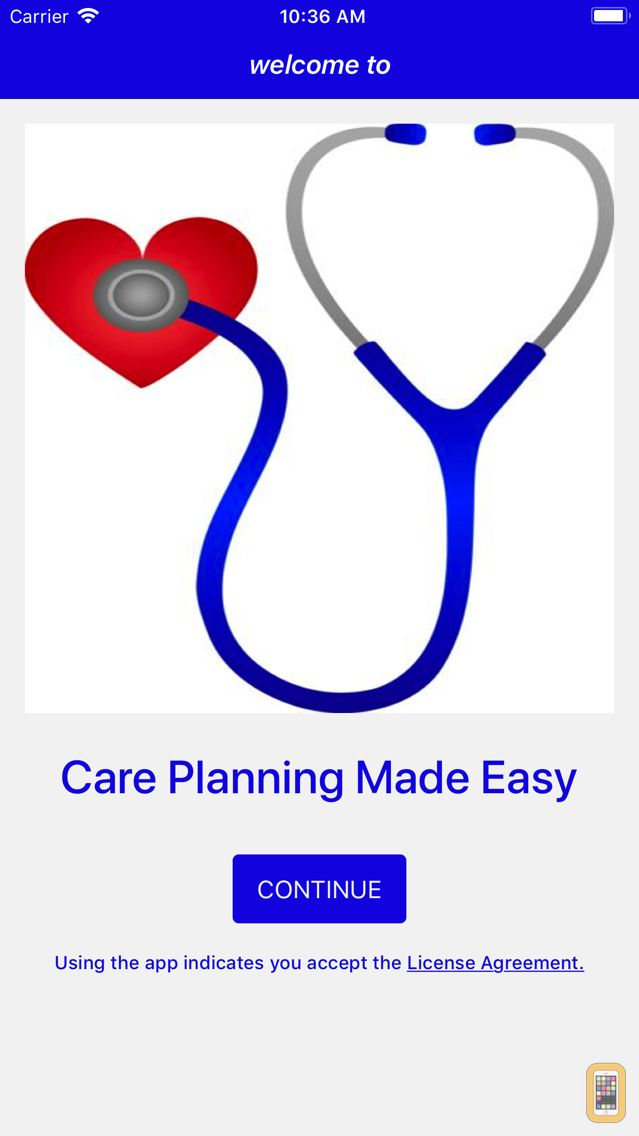 Screenshot - Care Planning Made Easy