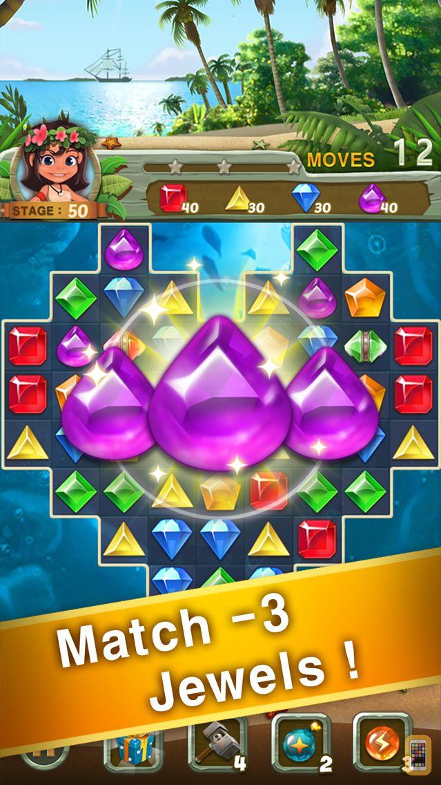 Screenshot - Paradise Jewel: Match-3 Puzzle