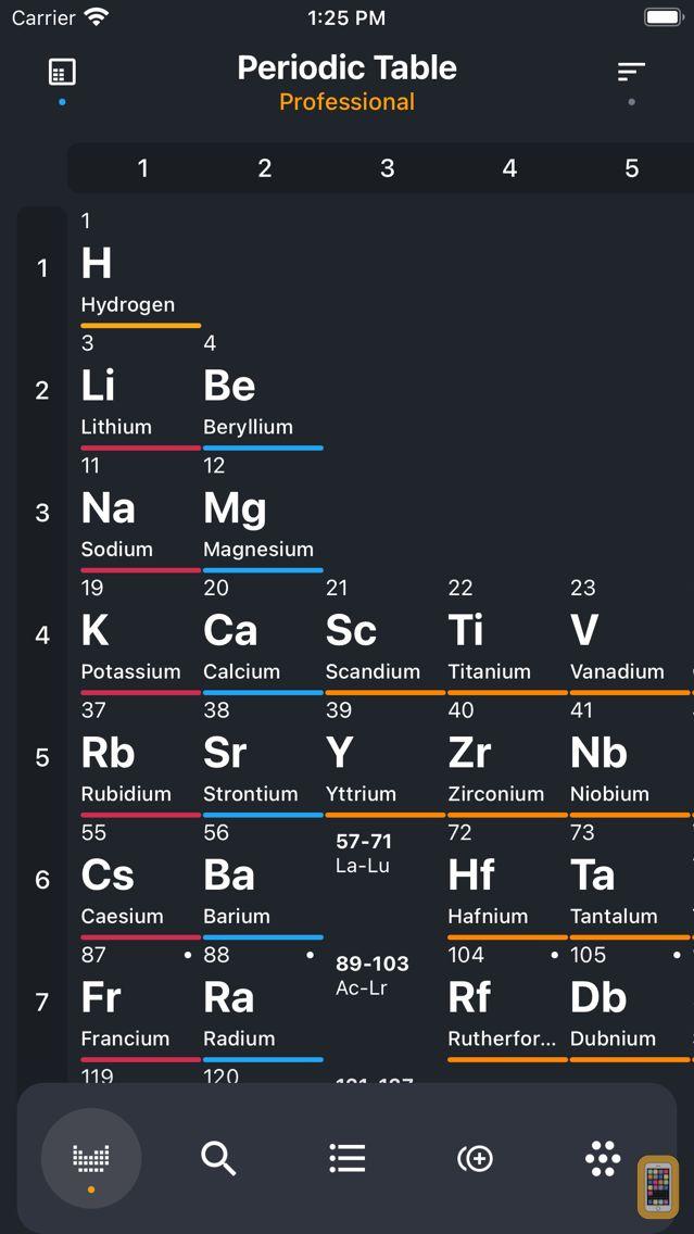 Screenshot - Periodic Table 2020 PRO
