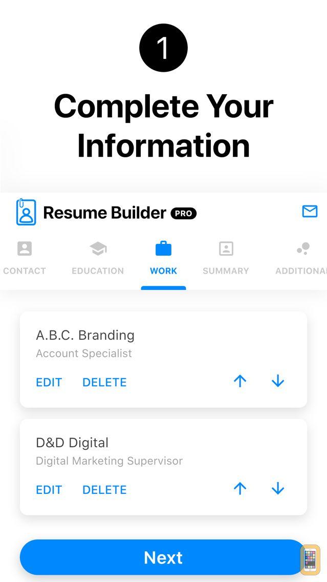 Screenshot - Resume Builder+ Professional