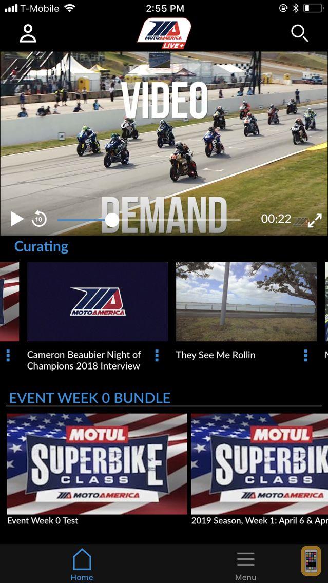 Screenshot - MotoAmerica Live+