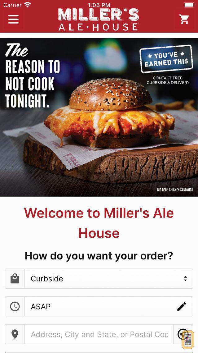 Screenshot - Miller's Ale House Ordering