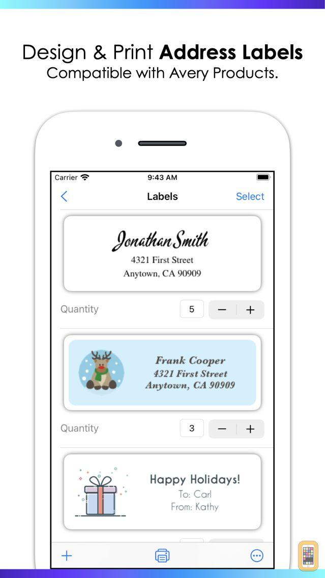 Screenshot - Address Labels by Nobody