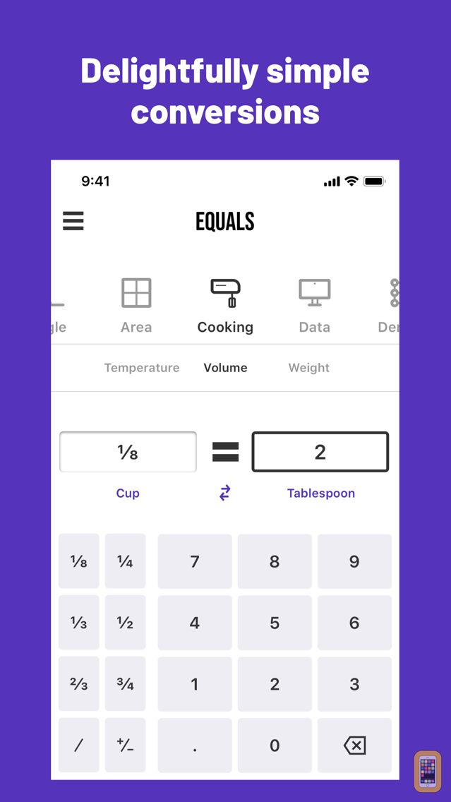 Screenshot - Equals: Unit Converter