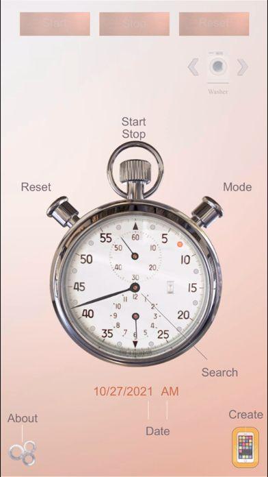 Screenshot - ClockZone: Chrome Stopwatch Ed
