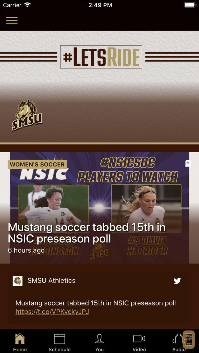 Screenshot - SMSU Athletics