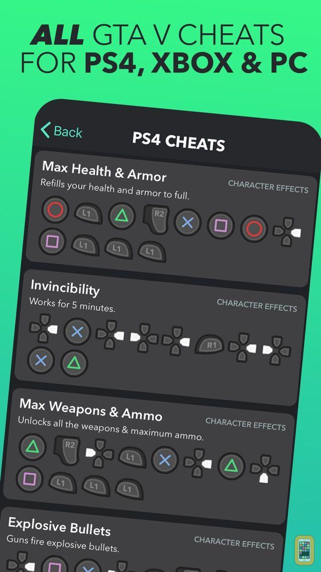 Screenshot - All Cheats for GTA 5 (V) Codes