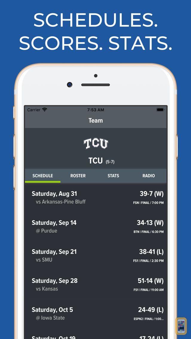 Screenshot - TCU Football Schedules