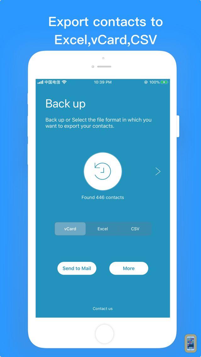 Screenshot - Contacts Backup-Easy Export