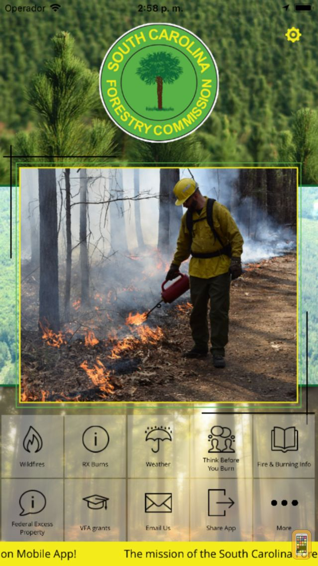 Screenshot - S.C. Forestry Commission