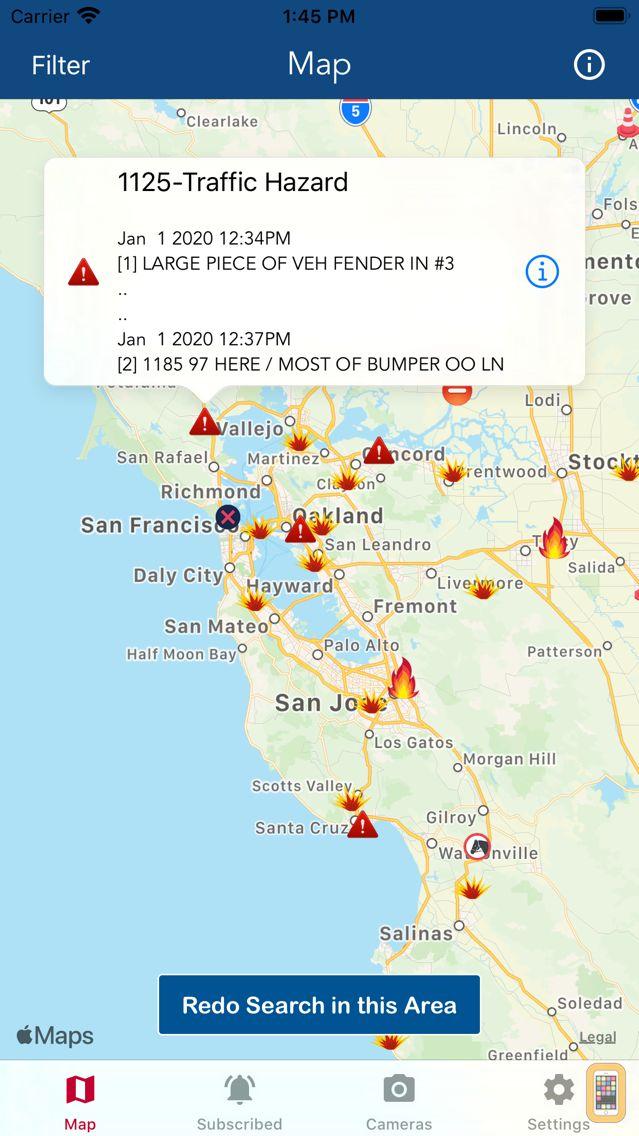 Screenshot - Road Conditions - California