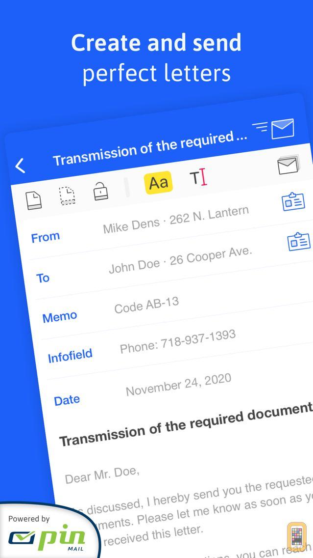 Screenshot - EasyLetter - Send letters
