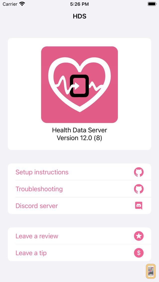 Screenshot - Health Data Server