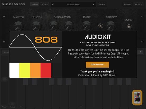 Screenshot - Bass 808 Synth + AUv3 Platinum