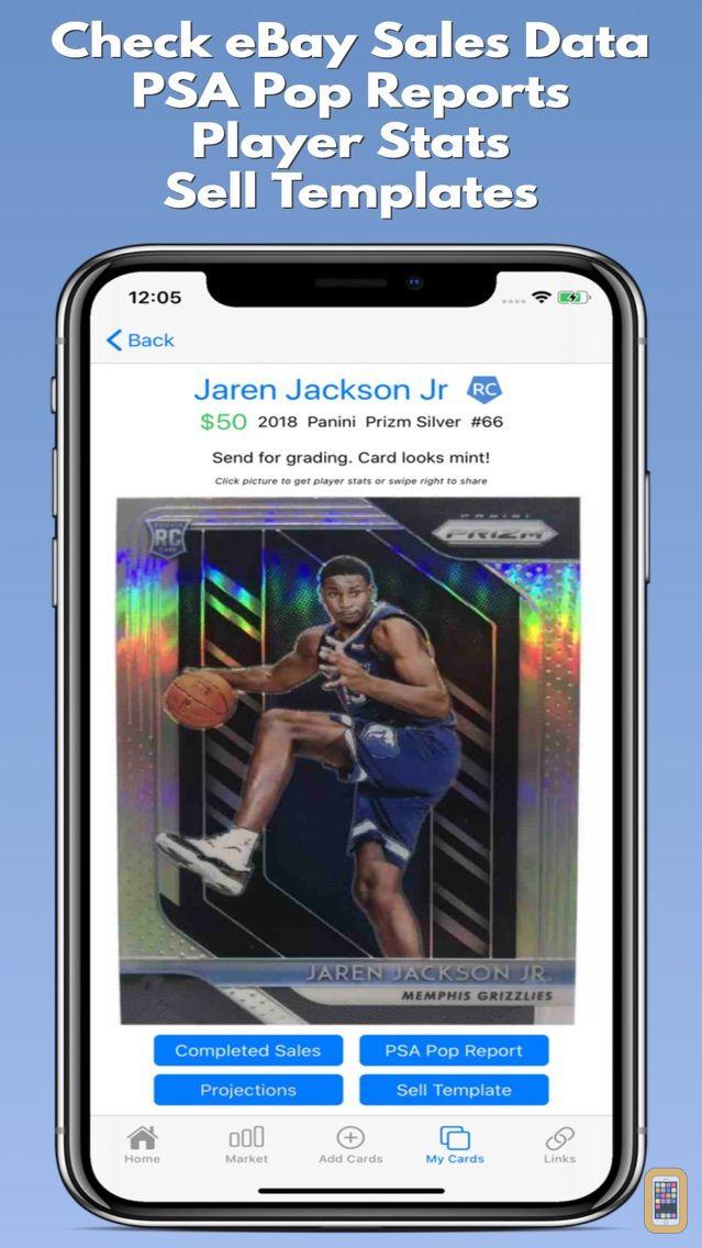 Screenshot - CardGenie - Sports Cards