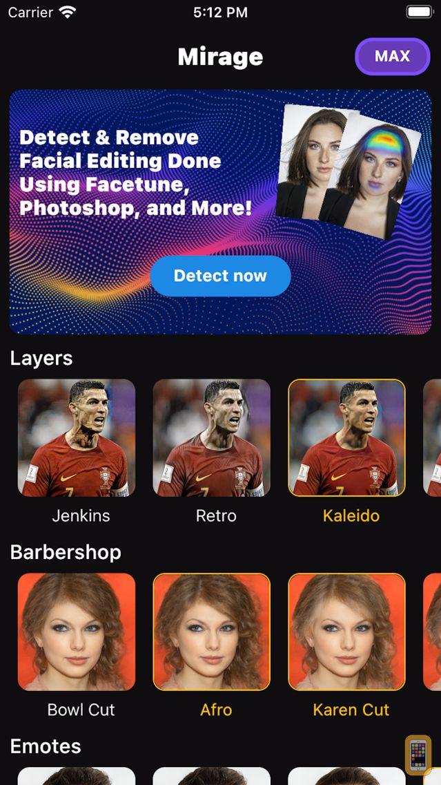 Screenshot - Mirage - Detect Image Editing
