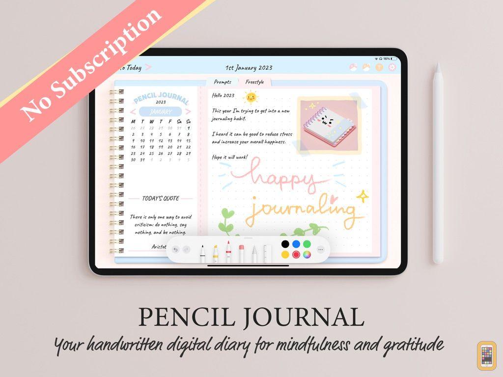 Screenshot - Pencil Journal - Digital Diary