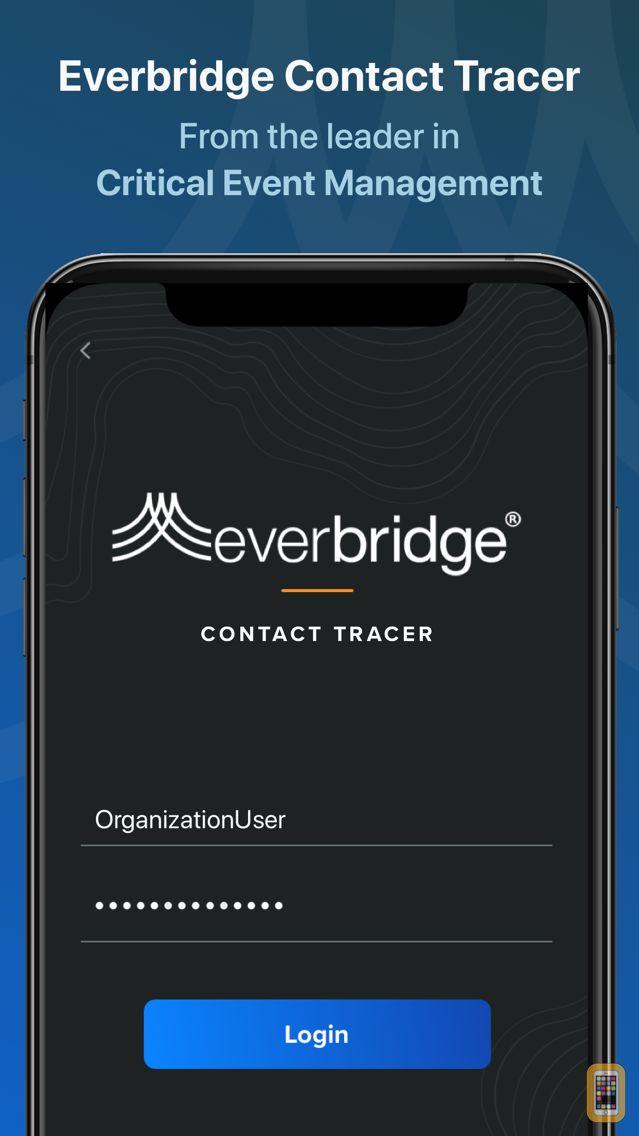 Screenshot - Everbridge Contact Tracer
