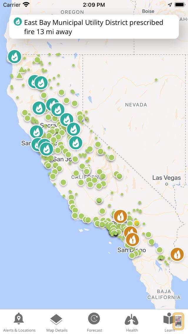 Screenshot - California Smoke Spotter