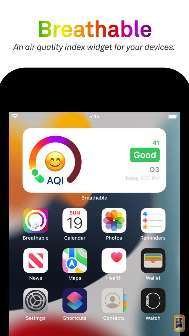 Screenshot - Breathable Air Quality Widget