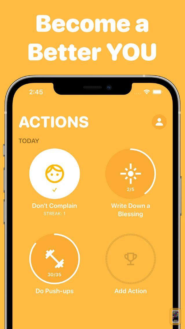 Screenshot - achvmnts-Habits/Goals/Streaks