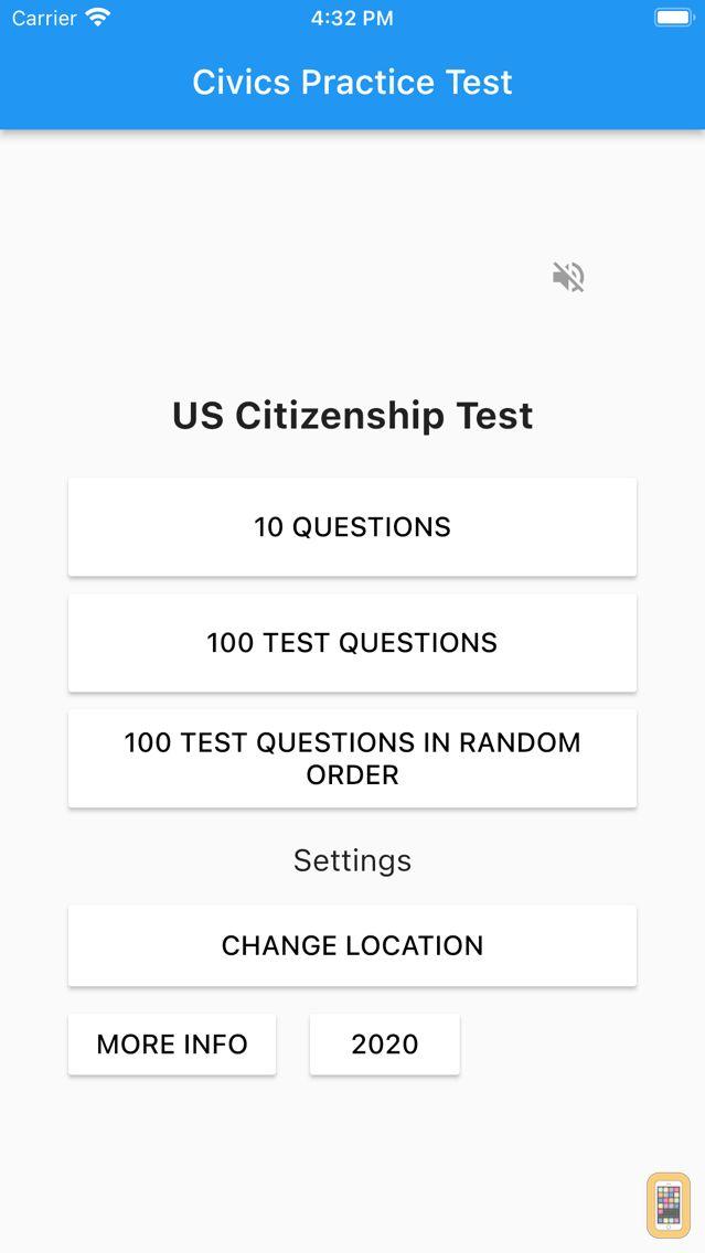 Screenshot - U.S. Citizenship Test 2021