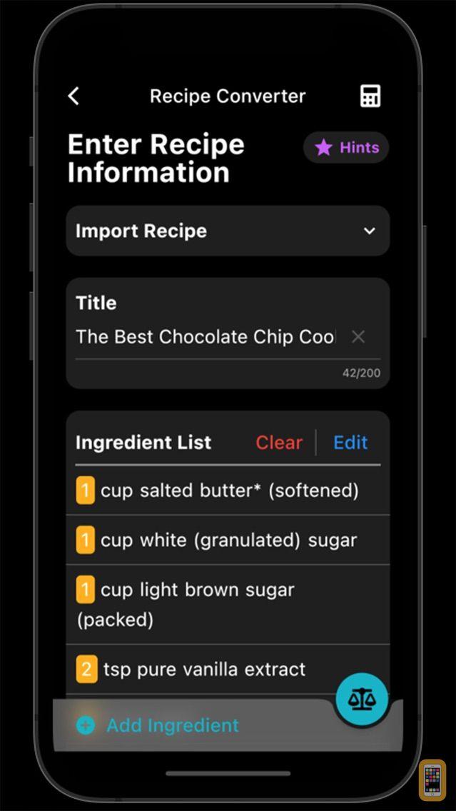 Screenshot - My Kitchen Calculator
