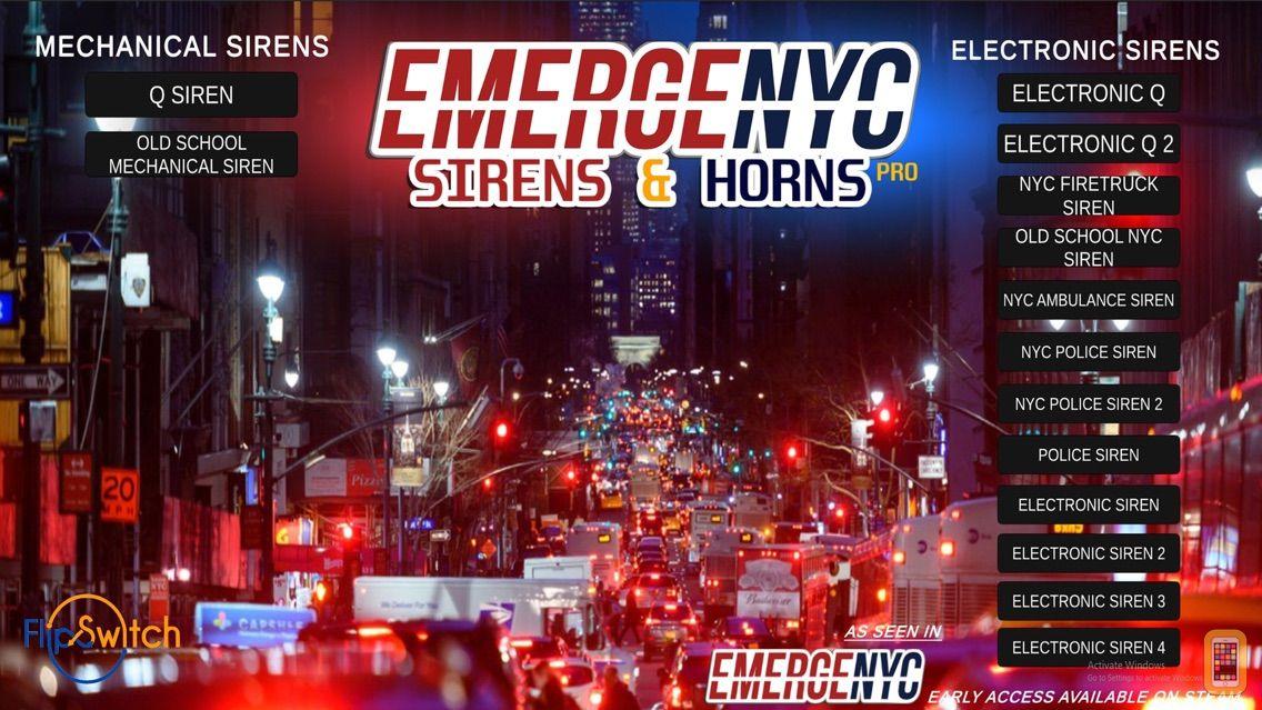 Screenshot - EmergeNYC Sirens & Horns Pro