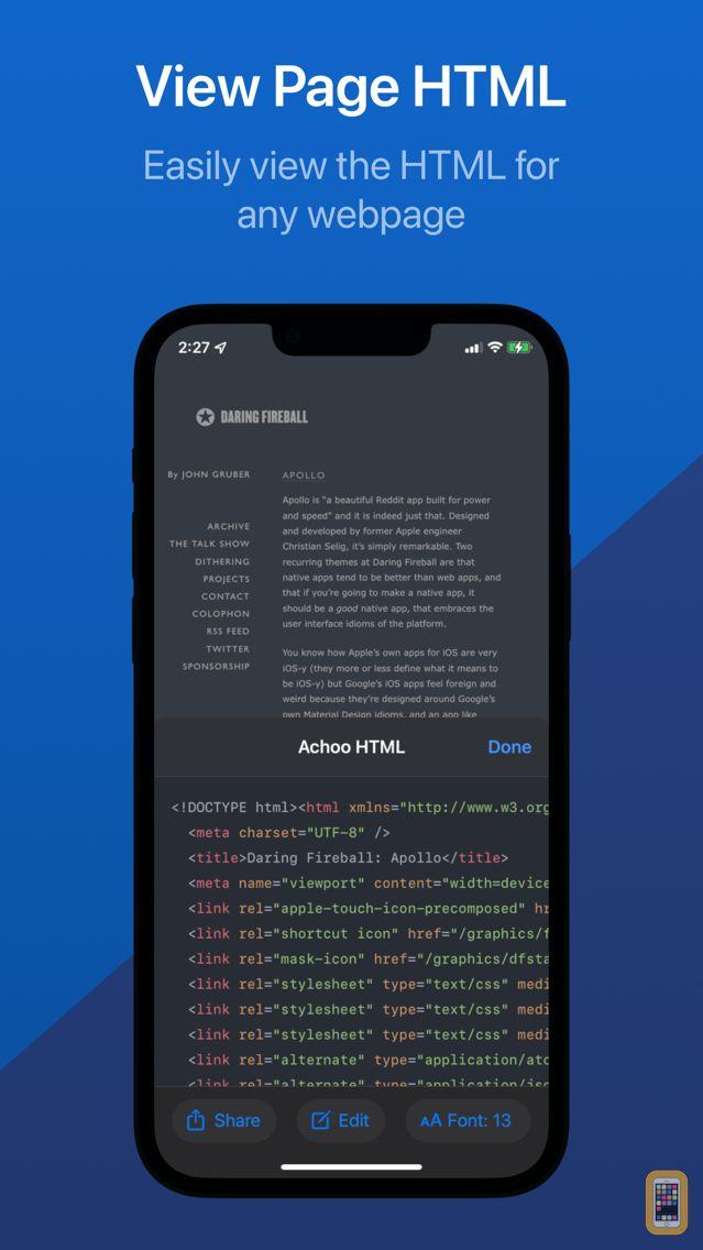 Screenshot - Achoo HTML Viewer & Inspector