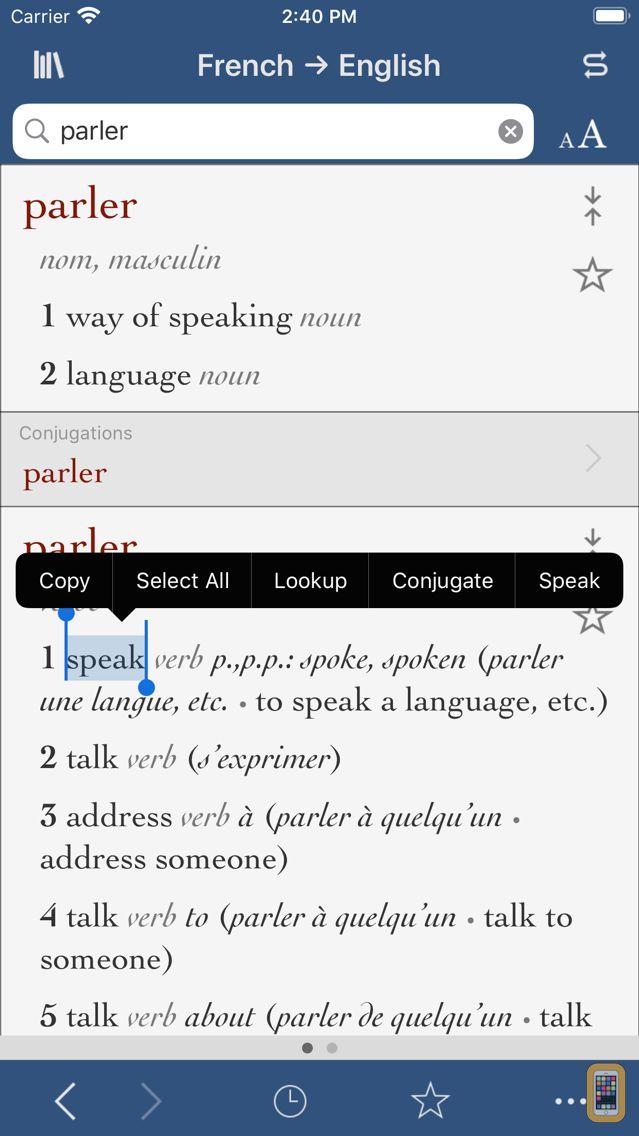 Screenshot - Ultralingua French-English
