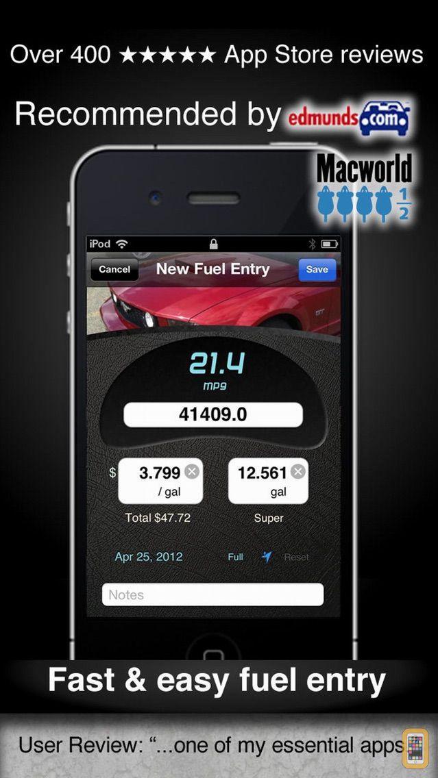 Screenshot - Car Care fuel & service log