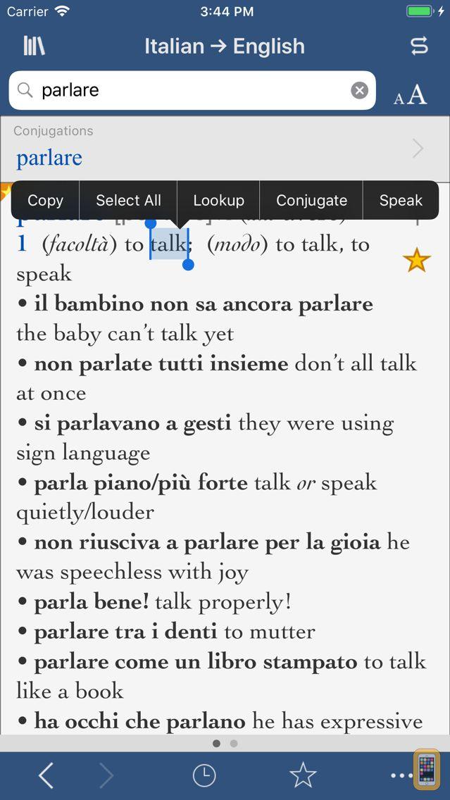 Screenshot - Collins Italian-English