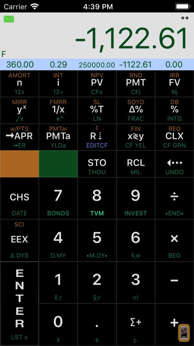 Screenshot - Calc-12E RPN Financial