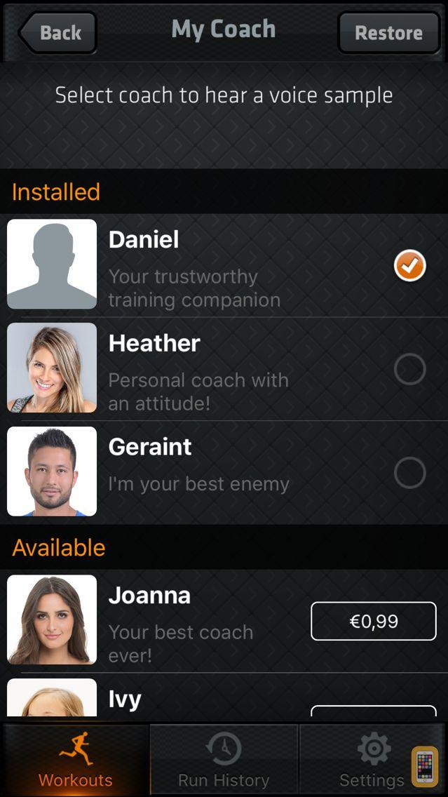 Screenshot - Interval Run