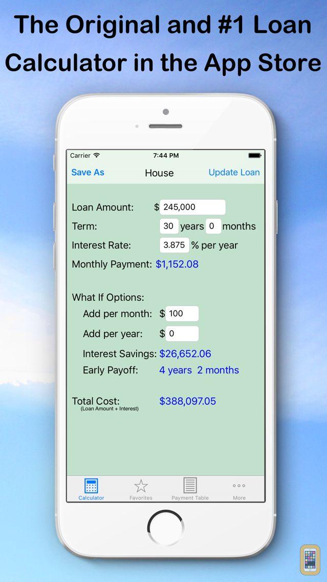Screenshot - Easy Loan Payoff Calculator