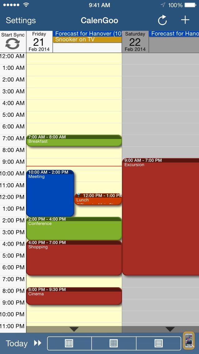 Screenshot - CalenGoo Calendar
