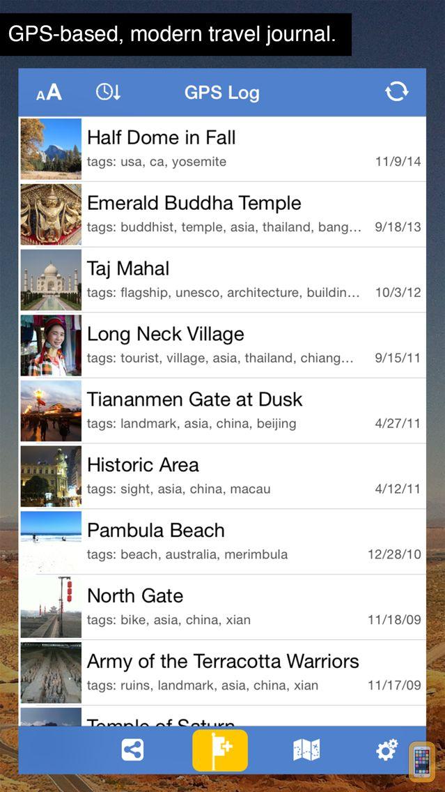 Screenshot - GPS Log