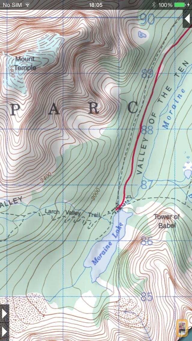 Screenshot - Topo Maps