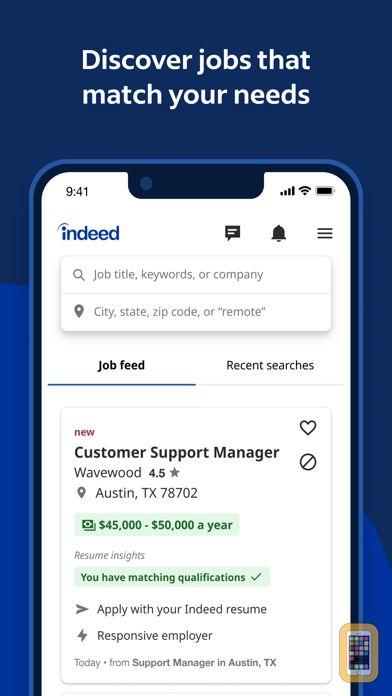 Indeed Job Search for iPhone & iPad - App Info & Stats | iOSnoops