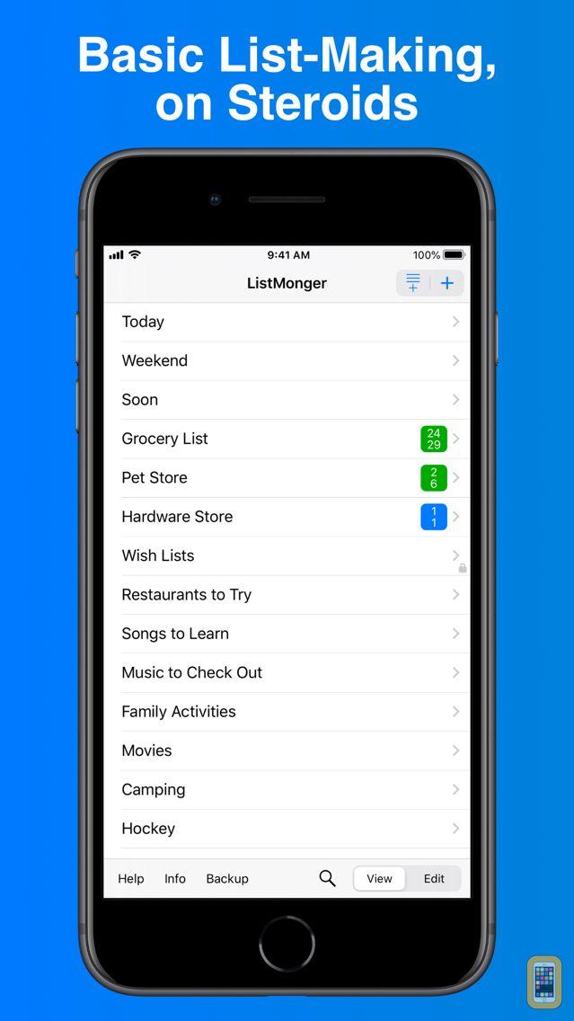 Screenshot - ListMonger