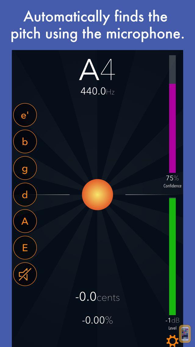 Screenshot - Tuna Pitch - chromatic tuner