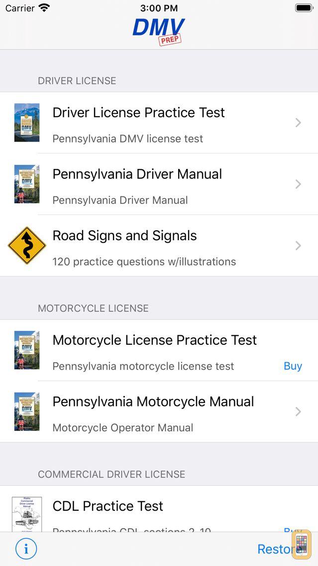 Screenshot - Pennsylvania DMV Test Prep