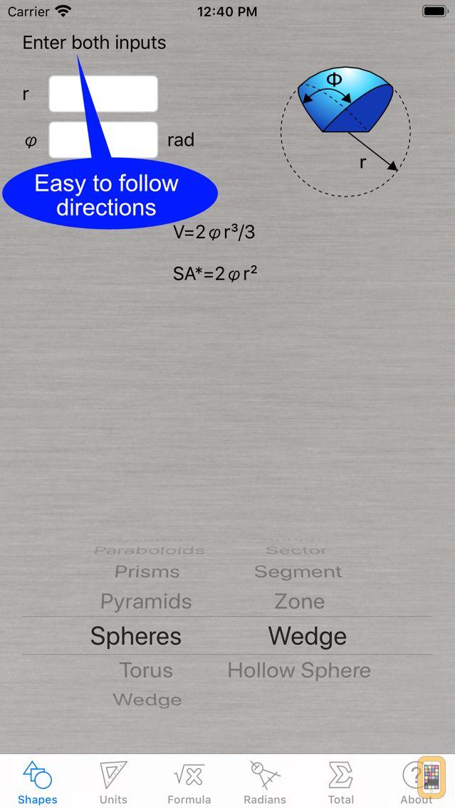 Screenshot - Volume Calculator