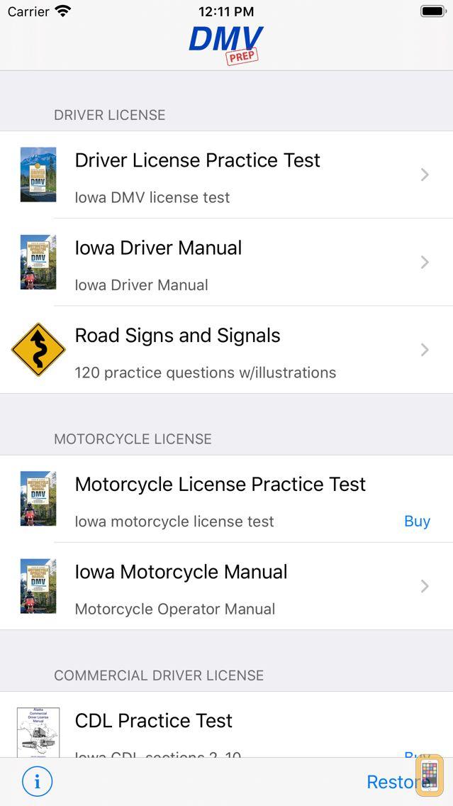 Screenshot - Iowa DMV Test Prep