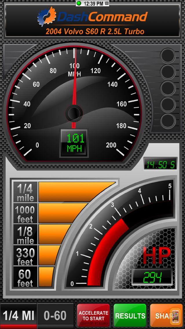 Screenshot - DashCommand - OBD-II gauge dashboards, scan tool