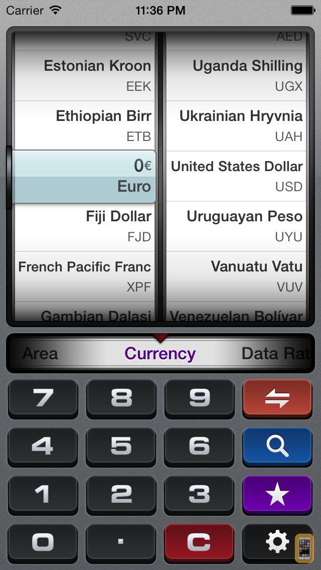 Screenshot - gUnit - Currency & Unit Converter (Conversion)